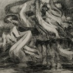 """Drawing for Night 3, 2011, 28 x 32""""."""