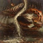 """Still Night Falling"", 2010, Oil on canvas, 77 x 88""."