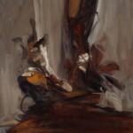 "Study, 2009, 17 x 15""."