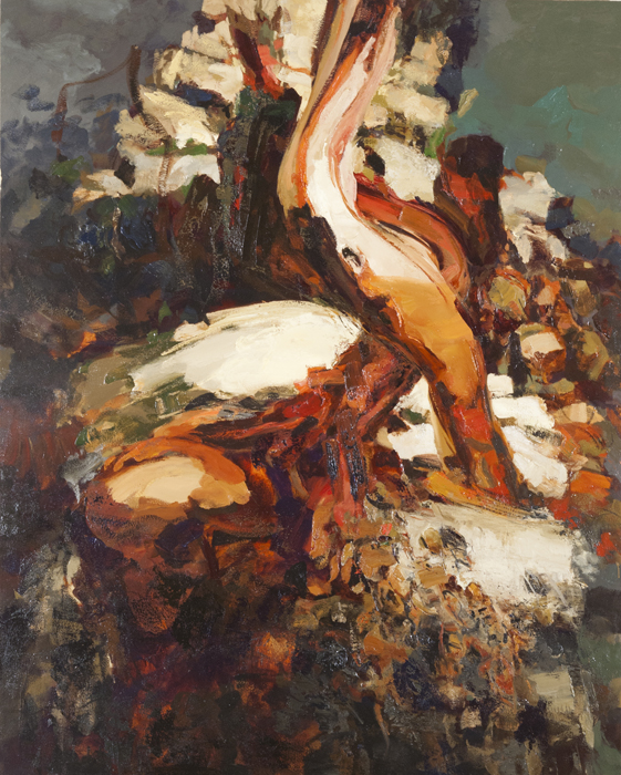 """Untitled 5-13, May 2013, oil on canvas, 70 x 56""""."""