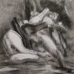 "Drawing 12/8/13, December 2013, charcoal, 24.5 x 25.5""."