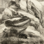 Drawing 2/22/13, February 2013, charcoal, 26.5 x 21.25""