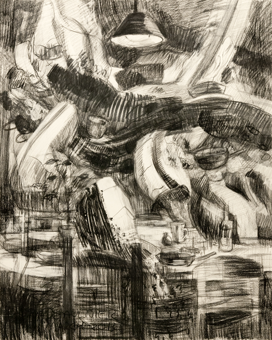 "Drawing for Picnic, March 2013, 35 x 28""."