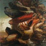 "'Trap', 2015, oil on linen, 84 x 73.5""."